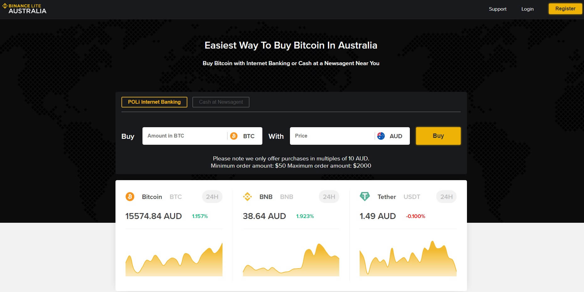 binance lite australia