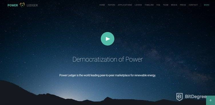 Aplicații descentralizate: Power Ledger.