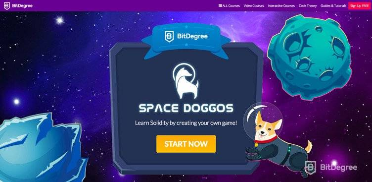 Aplicații descentralizate: curs Space Doggo pe BitDegree.